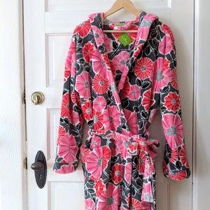 NWT Vera Bradley Floral Plush Robe - L/XL